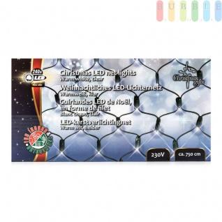 LED-Lichternetz von ChristmasGifts, 240 warmweißeLEDs, In-/Outdoor, 230V, Größeca.250x110cm