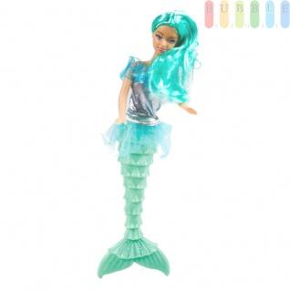Meerjungfrau-Modepuppe von EDDY TOYs mit 2-teiligem Zubehör, Größeca.29cm, Farbe Türkis - Vorschau 1