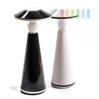 Tischlampe mit Touchsensor, 24 LEDs, USB-Anschluß oder Batteriebetrieb, ca. 26 x 11 cm, lieferbar in den Farben Schwarz oder Weiß