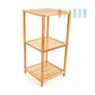 Bambusregal von Homstyle, 2 Fächer, 1 Ablage, Streben-Regalböden, luftig-gerades Design, lackiertes Holz, Höhe ca. 77 cm