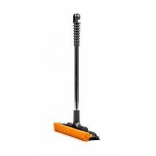 Scheibenreiniger von max4car mit Gummischwamm und Alu-Rohr, Öse, stabil, griffig, kompakt, Länge ca. 40 cm