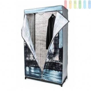 Faltkleiderschrank, 1Kleiderstange, werkzeugloseMontage, Größe 156x87x45cm, Design BigBen