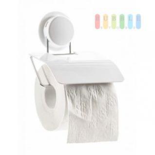 Toilettenpapierhalter von Alpina, Montage mit Saugnapf oder Montageplatte, Belastung max. 5 kg, Größe 11 x 25 x 7, 5 cm