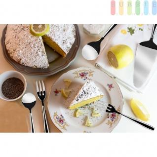 Kuchenbesteck, 9 tlg. Servierset für 6 Personen, Kuchengabel, Tortenheber, Sahnelöffel, Zuckerlöffel, aus rostfreiem Edelstahl - Vorschau 3
