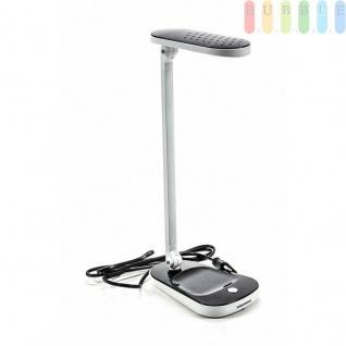 LED-Schreibtischlampe von Grundig, 27LEDs, Designklassisch-puristisch, 2 Gelenke, 120°/180°-Neigung, FarbeSchwarz-Weiß