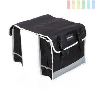 Doppelte Fahrradtasche Dunlop für den Gepäckträger, wasserdicht, reflektierend, jeweils36 x 30 x 12cm
