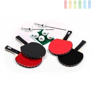 Tischtennis Set in Tasche von Slazenger, 4Tischtennisschläger, 4Bälle, 1Netzgarnitur, mobil, 10-teilig - Vorschau 1