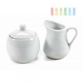Milch - und Zucker-Set von Trento Collection aus Keramik, Design schlicht, zeitlos, 2- teilig