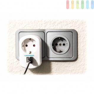 USB-Ladegerät von Grundig mit Steckdose und 2USB-Buchsen, 250V/50Hz AC und 2 x 5V/2, 1A DC - Vorschau 4