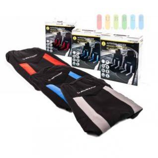 Autositzbezüge-Set Dunlop für die Vordersitze mit/ohne Seitenairbag, 6-teilig, lieferbar in den Farben Grau, Blau oder Rot