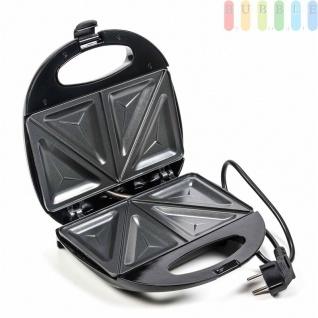 Sandwichmaker von Dunlop, Bereitschafts- und Netzanzeige, antihaftbeschichtet, schwarz, 750W