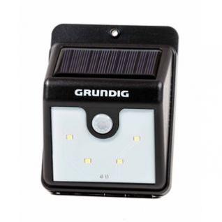Solar-LED-Nachtlicht von Grundig, Dämmerungs- und Bewegungssensor, Montage einfach, kabellos, solarbetrieben, 40 Lumen, 4 SMD-LEDs