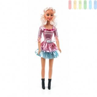 Modepuppen-Set von EDDY TOYs, Puppe mit Schuhen, besonders groß, Höheca.62cm, Haarfarbe Blond