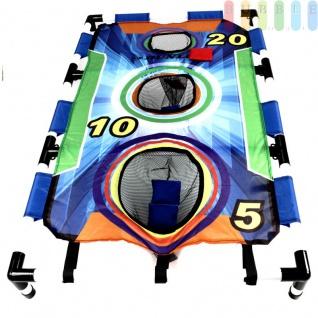 Sandsack -Wurfspiel für Kinder, Frauen und Männer von Dunlop, Familien-Spiel für draußen mit Spielfeld zum Zusammenstecken, 6 Wurf-Sandsäcke