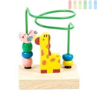 Motorikschleife Mini von Marionette für Kleinkinder, Design Zoo, bunt, 10x 7, 5x14cm, Giraffe
