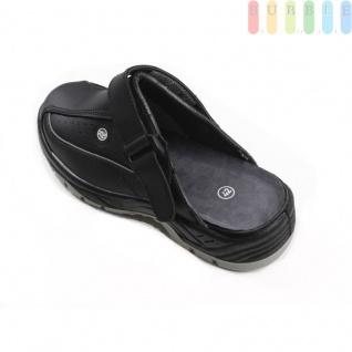 Clogs Sicherheits-Sandale von ALL Ride, Sicherheitsschuh mit Klettverschluss, schwarz/grau, Größe 43 - Vorschau 2