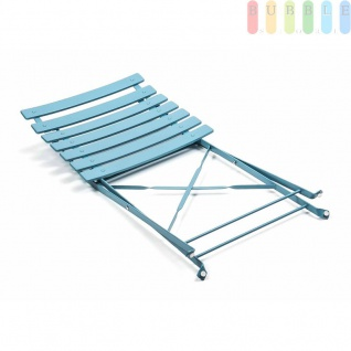 Bistrogarnitur von Lifetime Garden 3-teilig, Metall, Retro-Design, innen und außen, klappbar, Farbe Blau - Vorschau 3