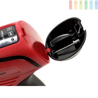 Kabelloser Druckluftkompressor von Dunlop, wiederaufladbarer Akku-Satz inkl. AC-Adapter (230 V) und 12 V DC-Akku für Zigarettenanzünder, LCD-Anzeige, 2 Adapter-Spitzen, für Auto, Fahrrad, Ball etc. - Vorschau 5