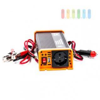 Spannungswandler / Inverter ALL Ride Zigarettenanzünder- und Batterie-Anschluss, Schuko-Steckdose, USB-Buchse, 12V/DC auf 230V/AC, 500W