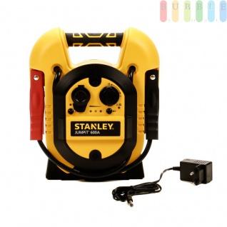 Jumpit J312E Starthilfegerät 12 Volt 300 Ampere für Motorrad- und PKW von Stanley, Netzladeadapter, Plus- + Minusklemme, Ein-Aus-Schalter, USB-Buchse, LED-Anzeigen