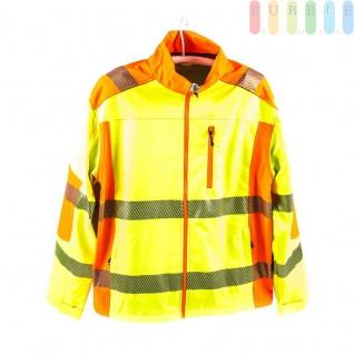 Sicherheits-Softshell-Jacke, entspricht EN ISO 20471/2013, wasserabweisend, atmungsaktiv, winddicht, gelb, Größe L