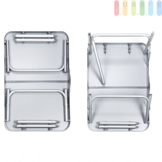 Camping-/Klapptisch aus Aluminium, leicht, robuste Tischplatte, 3, 5 cm Packhöhe, 2, 7 kg - Vorschau 3