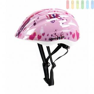 Kinderfahrradhelm Dunlop für Radfahrer, Skater, Eisläufer und Skateboarder, entspricht DINEN1078, Design Herz/Schmetterling