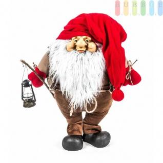 Weihnachtsmann / Nikolaus von Christmas Gifts, Laterne am Holzstab, Textil, Plüsch, Wichtel-Design, Höheca. 70 cm, Weihnachtsmann (Modell 2)