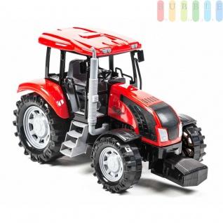 Traktor von Gearbox mit Lenk-Funktion und Schiebedach, Länge ca. 33 cm, Farbe Rot