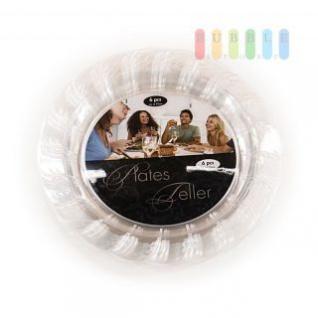 Kunststoffgeschirr Teller, Einweg-Verwendung, hygienisch, leicht, formstabil, 25 cm, 60 Stück