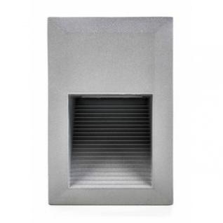 LED-Wandeinbaustrahler von Outdoor Lights aus Aluminium, 15 weiße LEDs (1, 5W), Einbaurahmen, Klemm-Montage, vorverkabelt, Größe ca. 9 x 13, 5 x 9, 5 cm