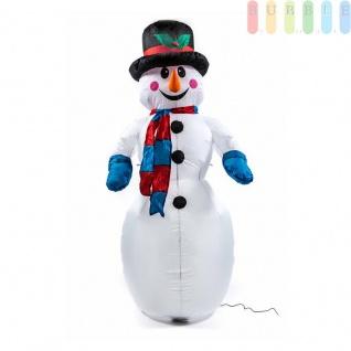 Aufblasbarer Schneemann mit Gebläse von Christmas Gifts, beleuchtet, Indoor/Outdoor, Höhe ca.180cm