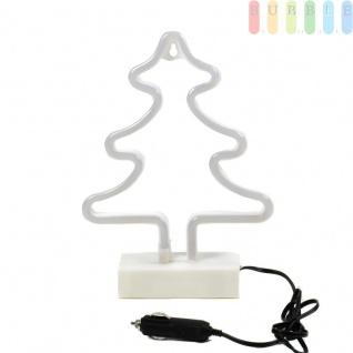 Neon LED-Weihnachtsbaum von ALL Ride, mit Ständer, doppelseitigem Klebepad, für LKW, PKW, Wohnmobil, Kabel mit Stecker für Zigarettenanzünderbuchse, 12-24 Volt, Höhe ca. 29, 5 cm - Vorschau 3