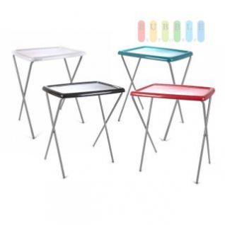 Klapptisch, Kunststoff-Tischplatte, Metall-Gestell, eckig, mobil, geringes Packmaß, Größe ca. 67 x 55 x 43 cm, lieferbar in den Farben Weiß, Schwarz, Türkis oder Rot