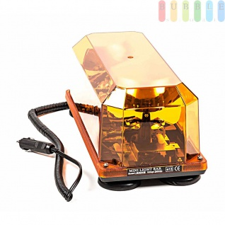 Doppel-Warnleuchte von ALL Ride, magnetisch, E13 Freigabe, 2Drehspiegellampen, 3mSpiralkabel, 24V - Vorschau 3