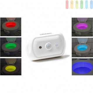 LED-Toilettenlicht von Grundig, Bewegungsmelder bis 2 m, 2 Beleuchtungsmodi, batteriebetrieben, Größeca. 10 x 6, 5 cm