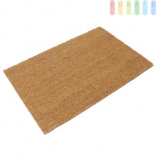 Kokos Fußmatte 40x60 cm, Fußabtreter Innenbereich und Außenbereich, Unterseite gummiert mit rutschfestem Noppen-Profil