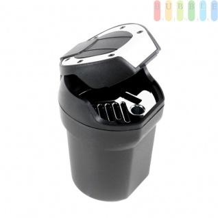 Aschenbecher als Mini-Mülltonne von Allride, für Getränkehalter oder Magnet-Halterung, flexibel, schwarz - Vorschau 1