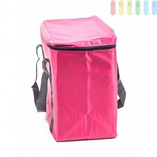 Kühltasche von Fresh&Cold im Soft-Design, Volumen 20 Liter, faltbar, handlich, Größeca.32x35x20cm, Farbe Pink