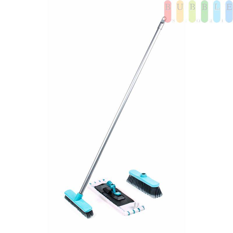 Relativ Bodenpflege-Set von Lifetime Clean mit Wischmopphalter, Wischmop FY39