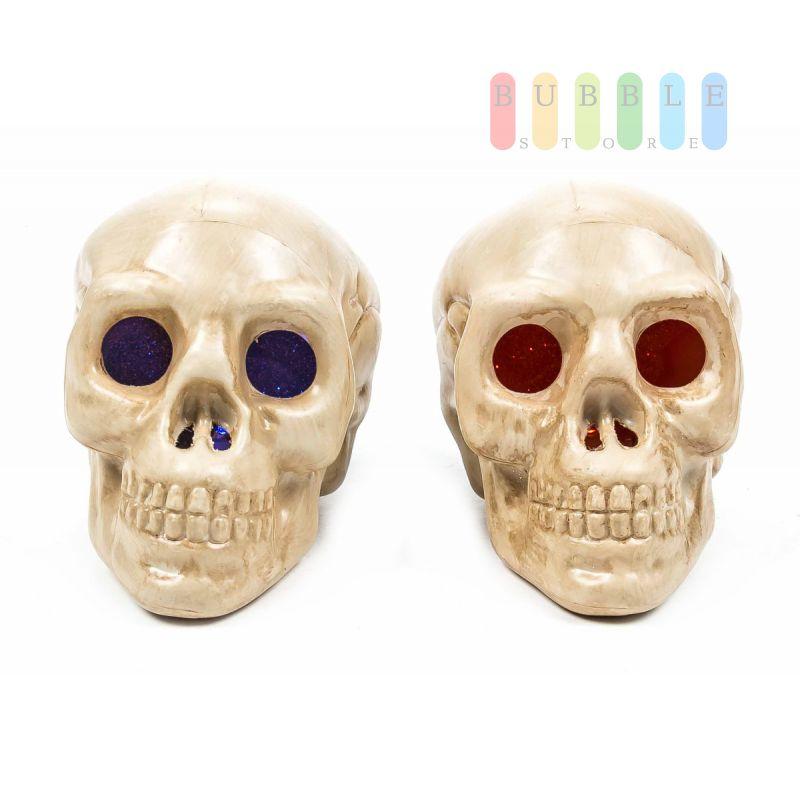 Halloween Skull /Schädel von Arti Casa, LED-beleuchtet, freistehend ...