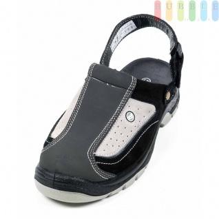 Clogs Sicherheitssandale von All Ride, Sicherheitsschuh mit Klettverschluss, schwarz/grau, Größe 45 - Vorschau 2