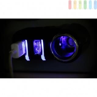 Steckdose mit 2-fach USB-Stecker von All Ride für PKW und LKW, LED-Anzeige für Ladestatus, 90° Gelenk, 12/24V, max. 5A - Vorschau 4