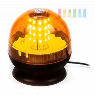 Warnleuchte von ALL Ride, 40 LEDs, Magnet-/Saugnapf-Montage, Stecker für DIN-/Normsteckdose, 3 Blinkfunktionen, 12/24 V, Farbe Orange