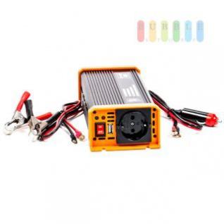 Spannungswandler / Inverter ALL Ride Zigarettenanzünder- und Batterie-Anschluss, Schuko-Steckdose, USB-Buchse, 24V/DC auf 230V/AC, 500W