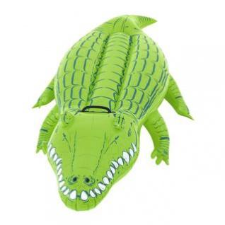 Wasserspielzeug Krokodil von Bestway, aufblasbar mit Griff, Sicherheitsventile, Reparaturflicken, Länge ca. 168 cm