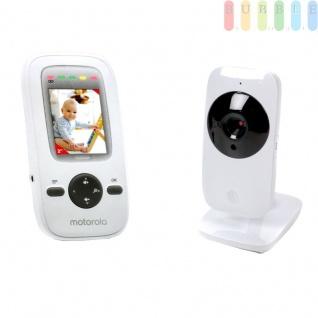 Digitaler Video-Babymonitor zur Überwachung von Baby und Kleinkind, Elternteil mit Farbmonitor und Lautsprecher, Infrarotnachtsichtgerät, 300 Meter Reichweite, Netzteil und Batteriebetrieb