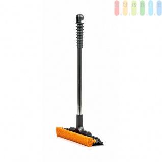 Scheibenreiniger von max4car mit Gummischwamm und Alu-Rohr, Öse, stabil, griffig, kompakt, Längeca.40cm