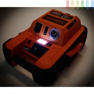 Starthilfegerät Jump It BDJS4501 450AMP von Black & Decker für 12 V Batterien plus 120 PSI-Kompressor, Netzladeadapter, LED-Licht + Anzeige - Vorschau 2