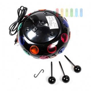 Disco-Leuchte von Grundig mit Aufhängung und Standfüßen, Ein-/Aus-Schalter, Birne austauschbar, schwarz - Vorschau 4